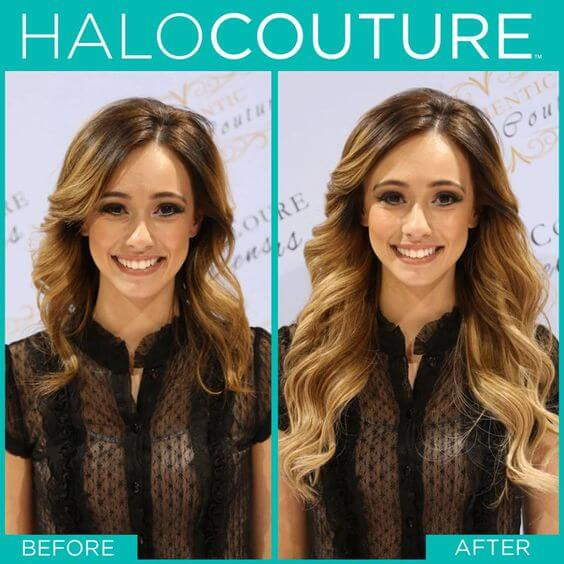 Beautiful Halo Couture Extensions Transform Your Hair
